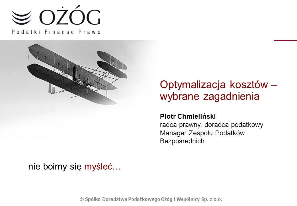 © Spółka Doradztwa Podatkowego Ożóg i Wspólnicy Sp. z o.o.