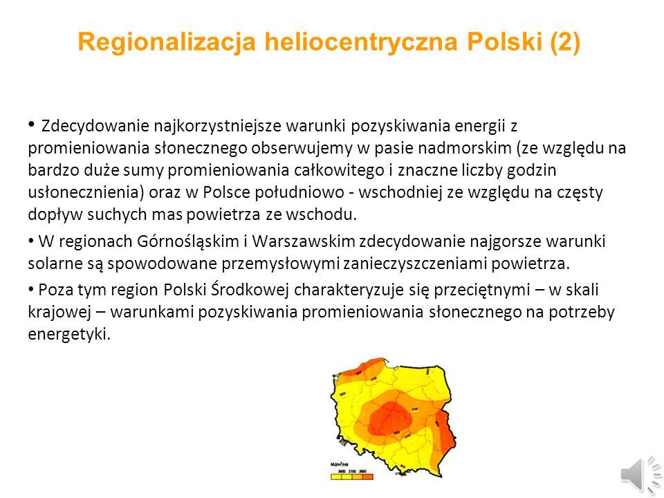 Regionalizacja heliocentryczna Polski (2)