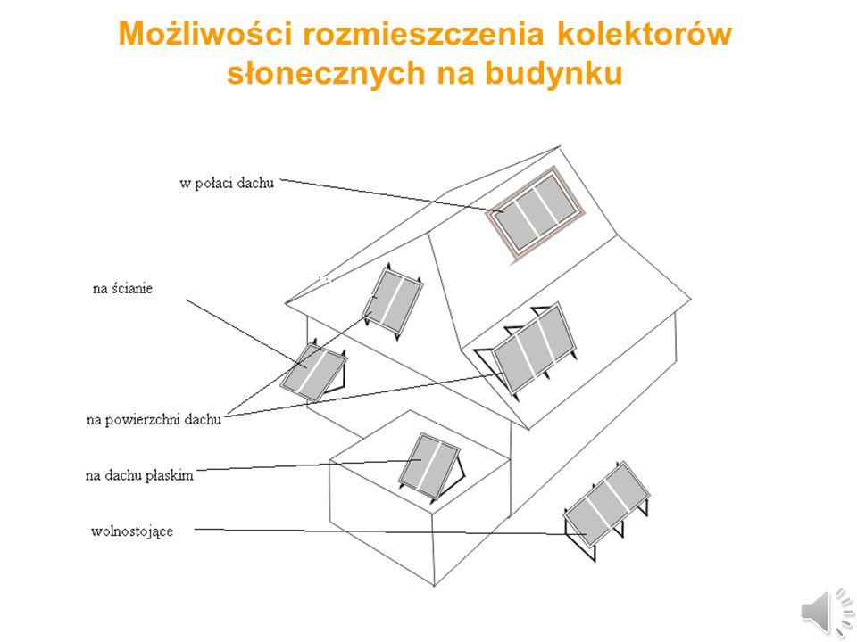 Możliwości rozmieszczenia kolektorów słonecznych na budynku