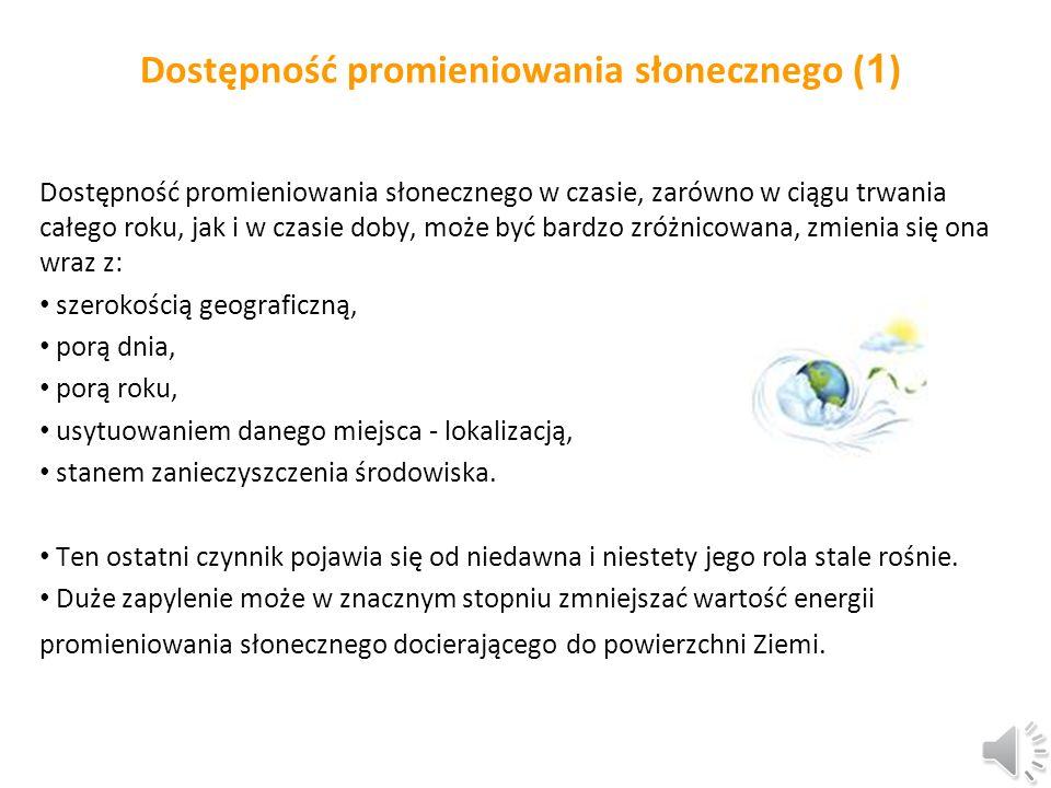 Dostępność promieniowania słonecznego (1)