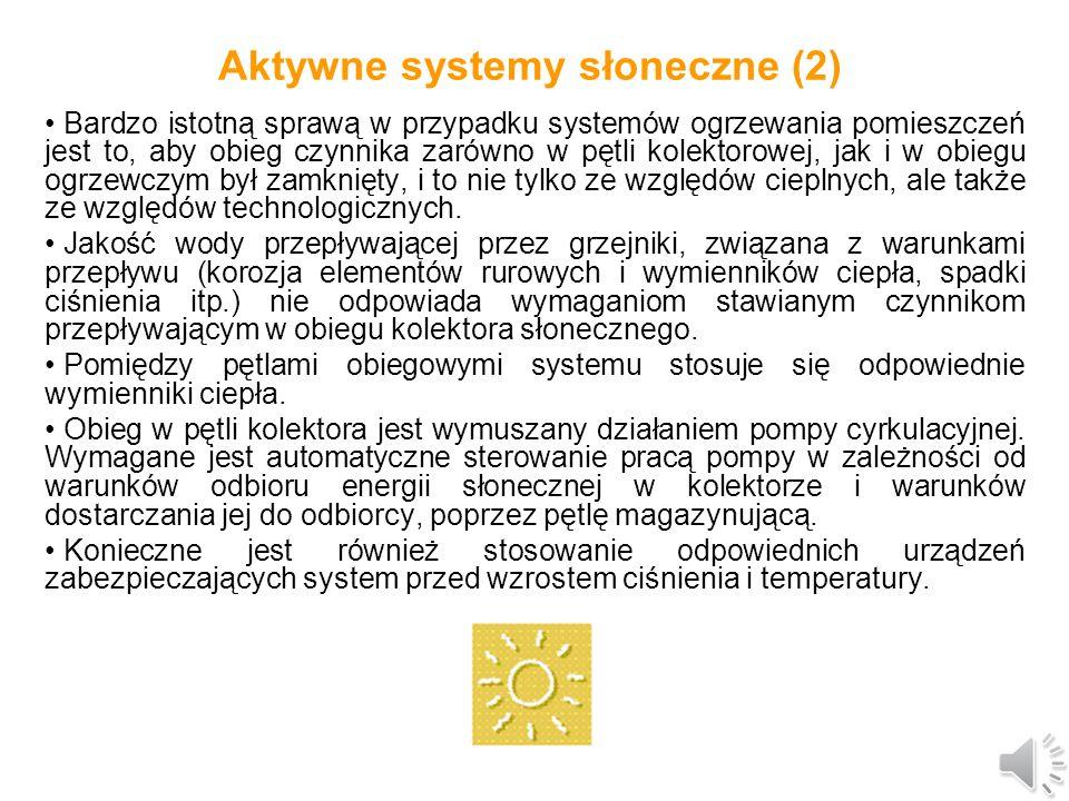 Aktywne systemy słoneczne (2)