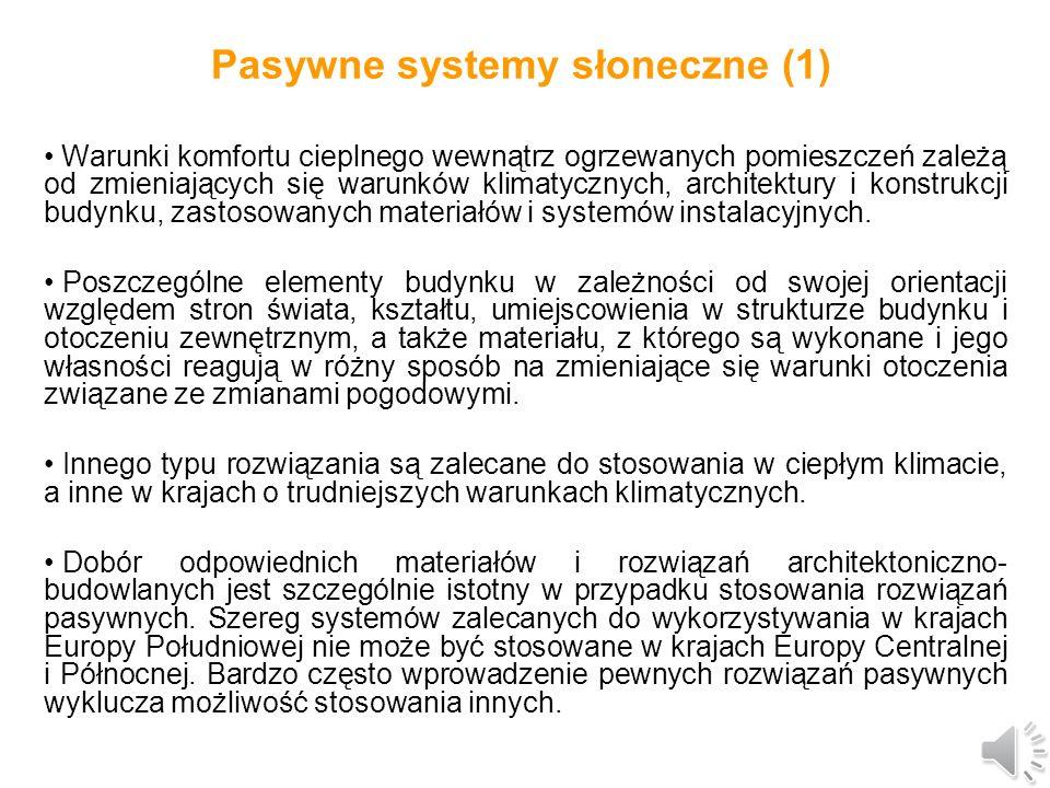 Pasywne systemy słoneczne (1)