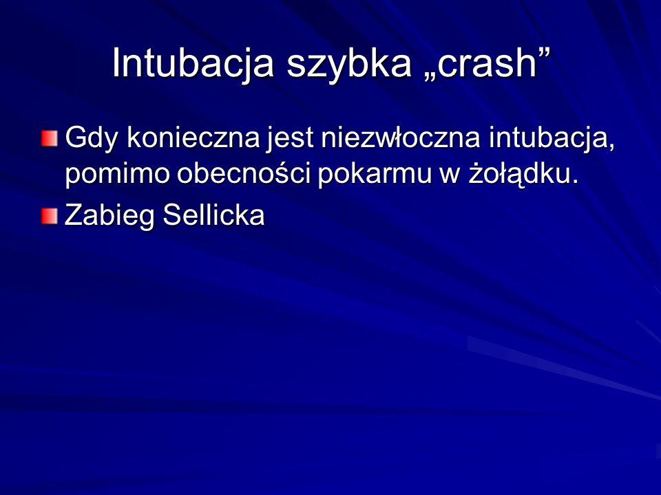 "Intubacja szybka ""crash"