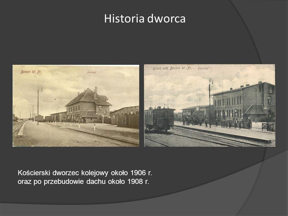 Historia dworca Kościerski dworzec kolejowy około 1906 r.