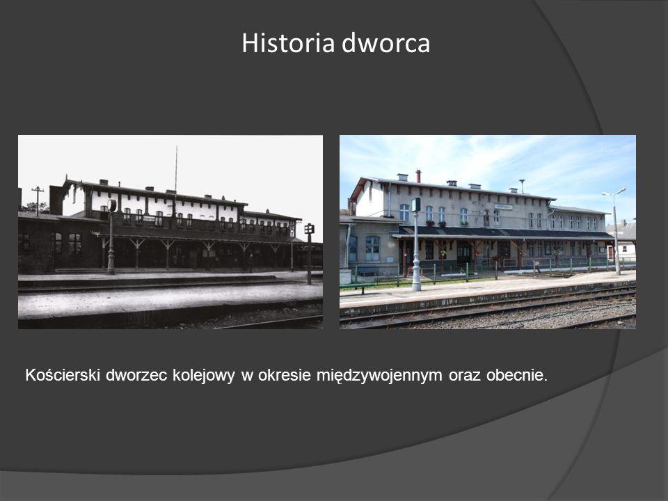 Historia dworca Kościerski dworzec kolejowy w okresie międzywojennym oraz obecnie.