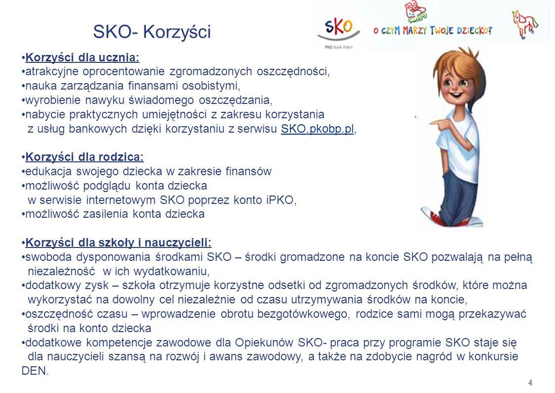 SKO- Korzyści Korzyści dla ucznia:
