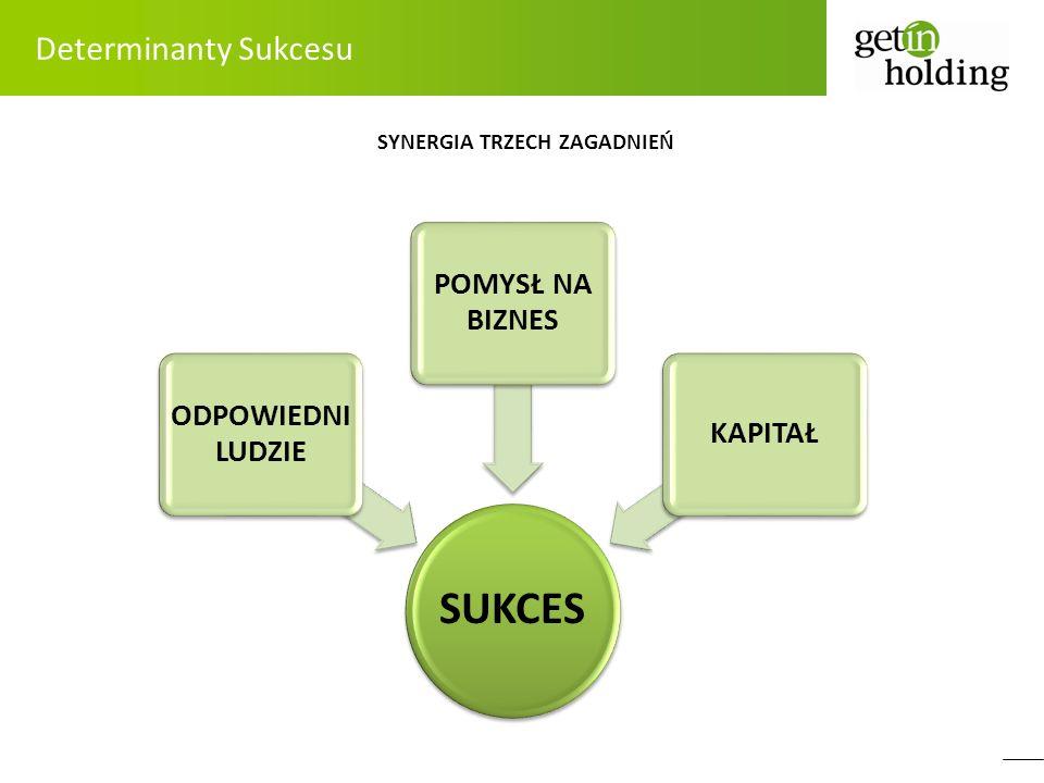 Determinanty Sukcesu SYNERGIA TRZECH ZAGADNIEŃ SUKCES