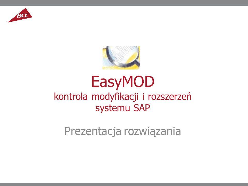 EasyMOD kontrola modyfikacji i rozszerzeń systemu SAP