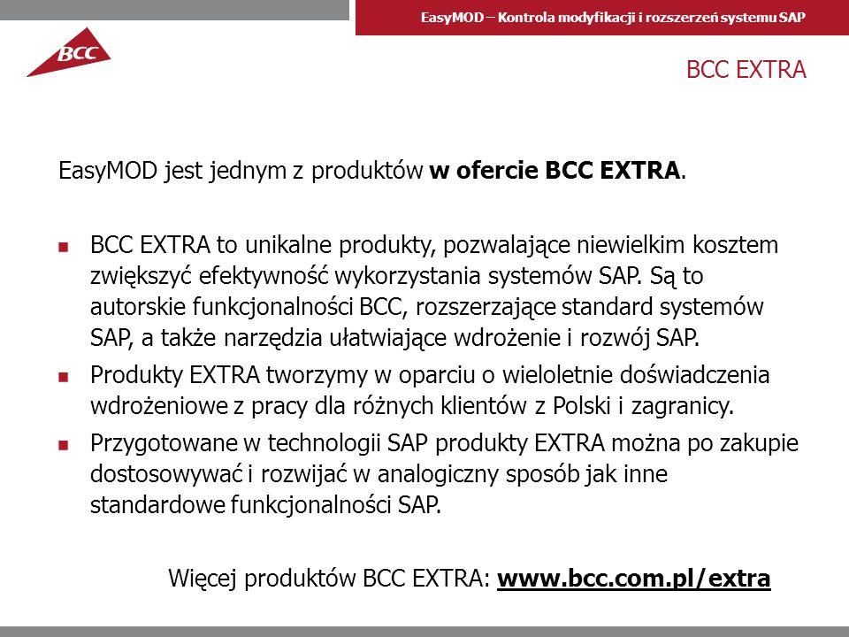 BCC EXTRA EasyMOD jest jednym z produktów w ofercie BCC EXTRA.