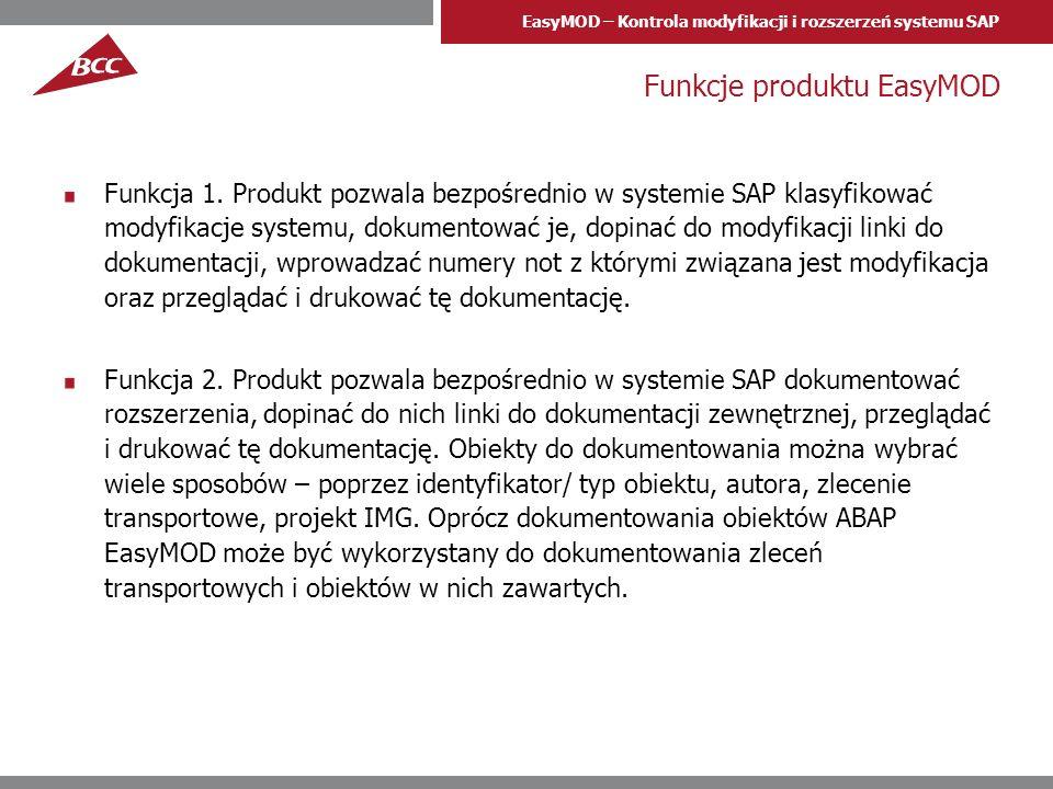 Funkcje produktu EasyMOD