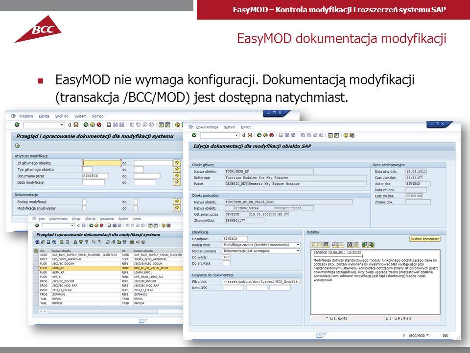 EasyMOD dokumentacja modyfikacji