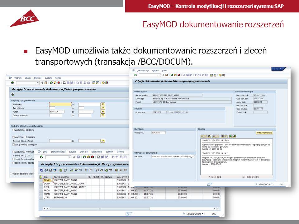EasyMOD dokumentowanie rozszerzeń