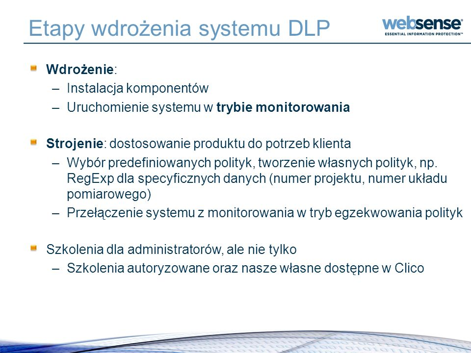 Etapy wdrożenia systemu DLP