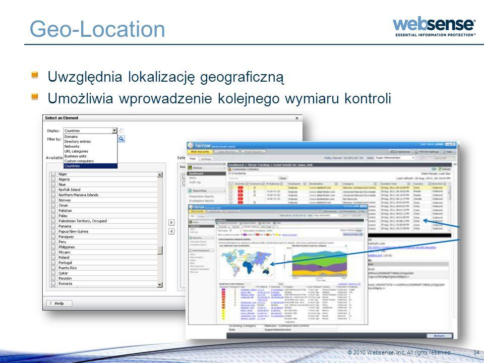 Geo-Location Uwzględnia lokalizację geograficzną