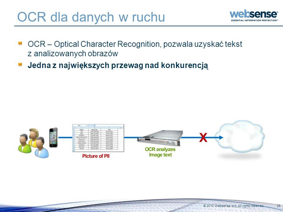 OCR dla danych w ruchu OCR – Optical Character Recognition, pozwala uzyskać tekst z analizowanych obrazów.