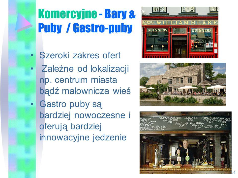 Komercyjne - Bary & Puby / Gastro-puby