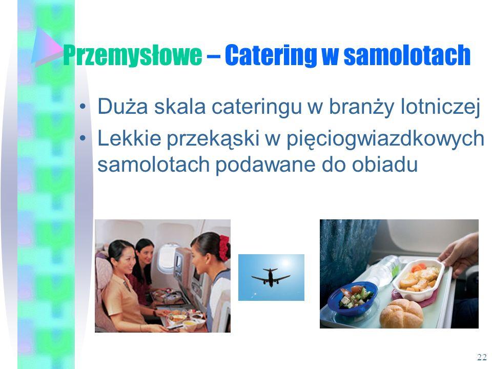Przemysłowe – Catering w samolotach