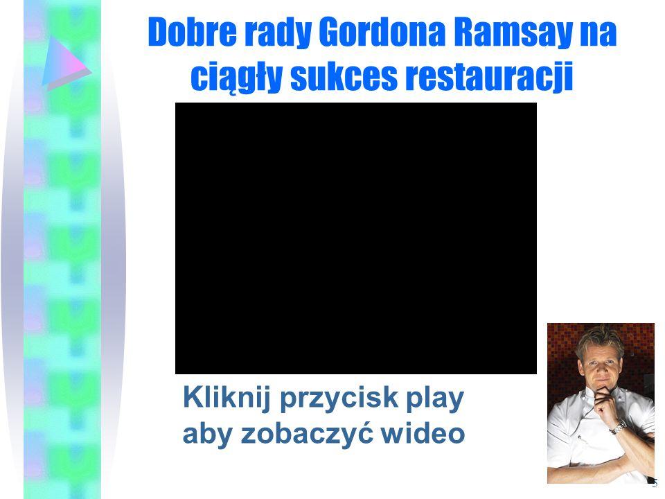 Dobre rady Gordona Ramsay na ciągły sukces restauracji