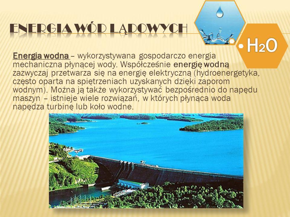 H2O Energia wód lądowych