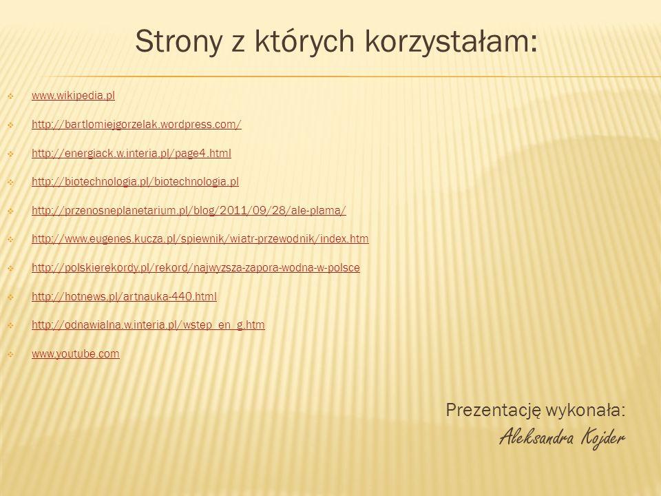 Strony z których korzystałam: