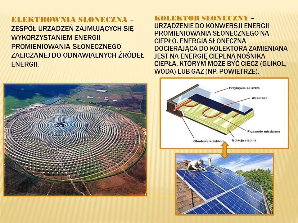 Elektrownia słoneczna – zespół urządzeń zajmujących się wykorzystaniem energii promieniowania słonecznego zaliczanej do odnawialnych źródeł energii.
