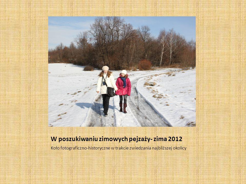 W poszukiwaniu zimowych pejzaży- zima 2012