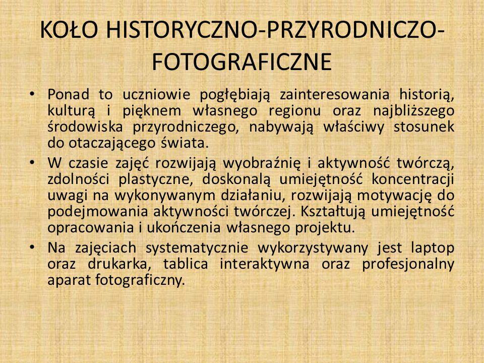 KOŁO HISTORYCZNO-PRZYRODNICZO- FOTOGRAFICZNE
