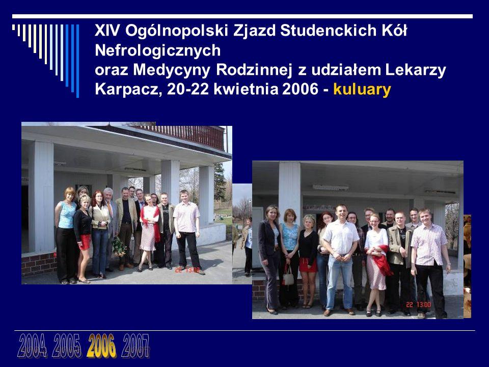 XIV Ogólnopolski Zjazd Studenckich Kół Nefrologicznych oraz Medycyny Rodzinnej z udziałem Lekarzy Karpacz, 20-22 kwietnia 2006 - kuluary