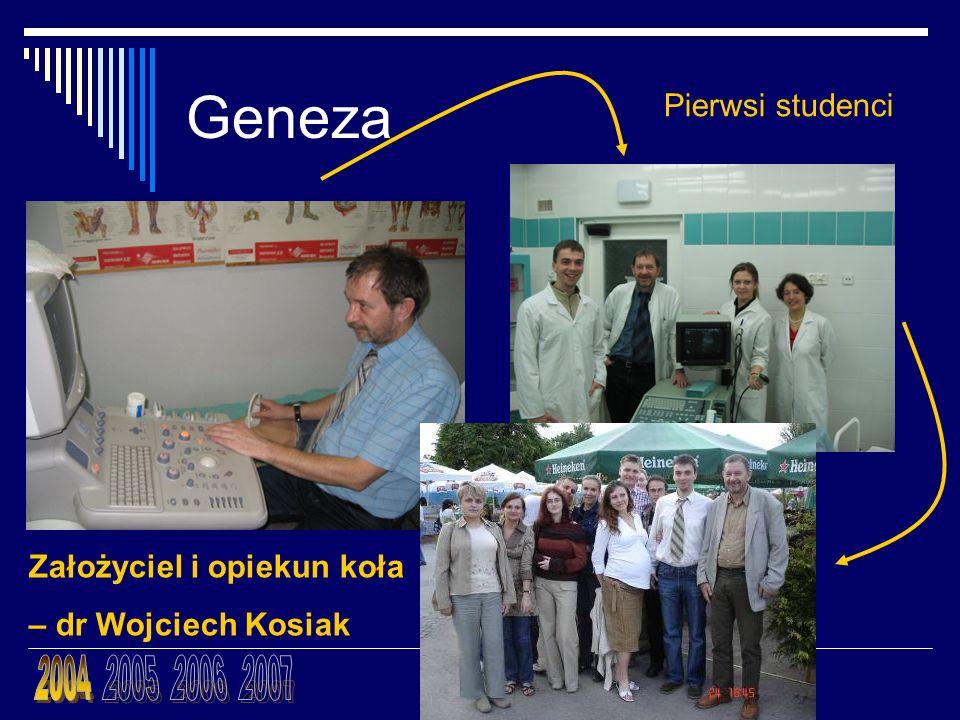 Geneza 2004 2005 2006 2007 Pierwsi studenci Założyciel i opiekun koła