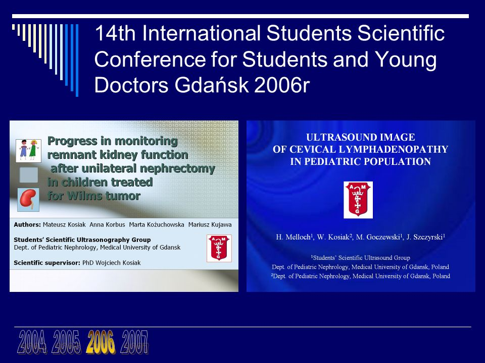 14th International Students Scientific Conference for Students and Young Doctors Gdańsk 2006r