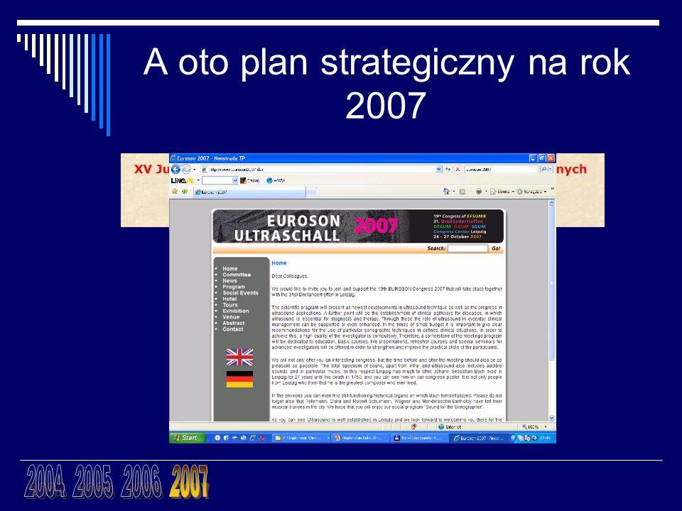 A oto plan strategiczny na rok 2007