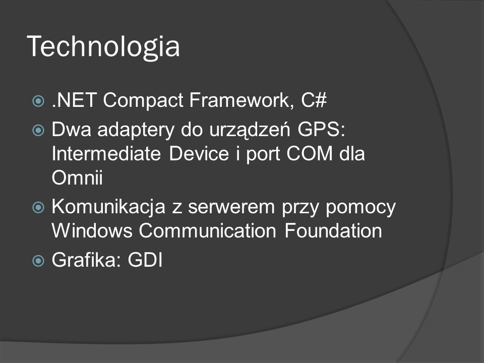 Technologia .NET Compact Framework, C#