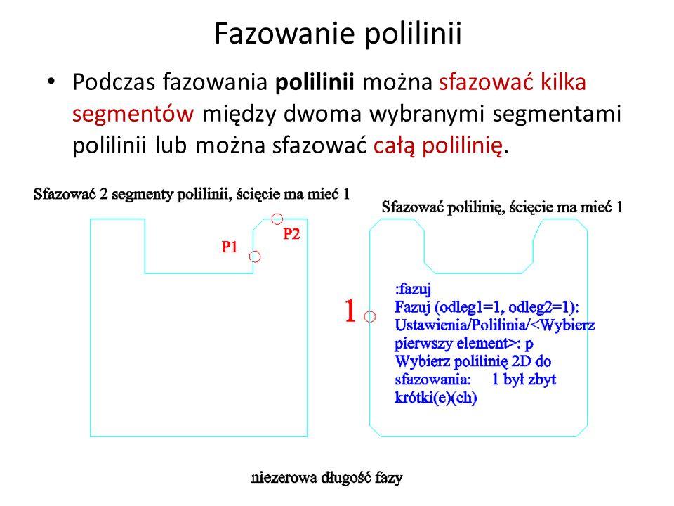 Fazowanie polilinii