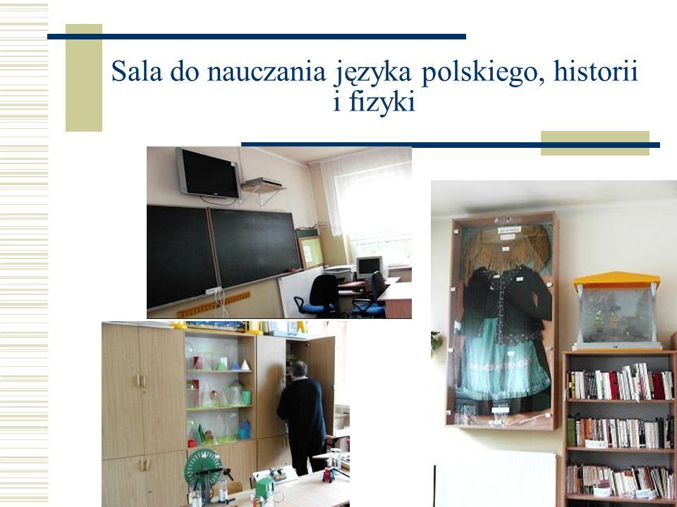 Sala do nauczania języka polskiego, historii i fizyki
