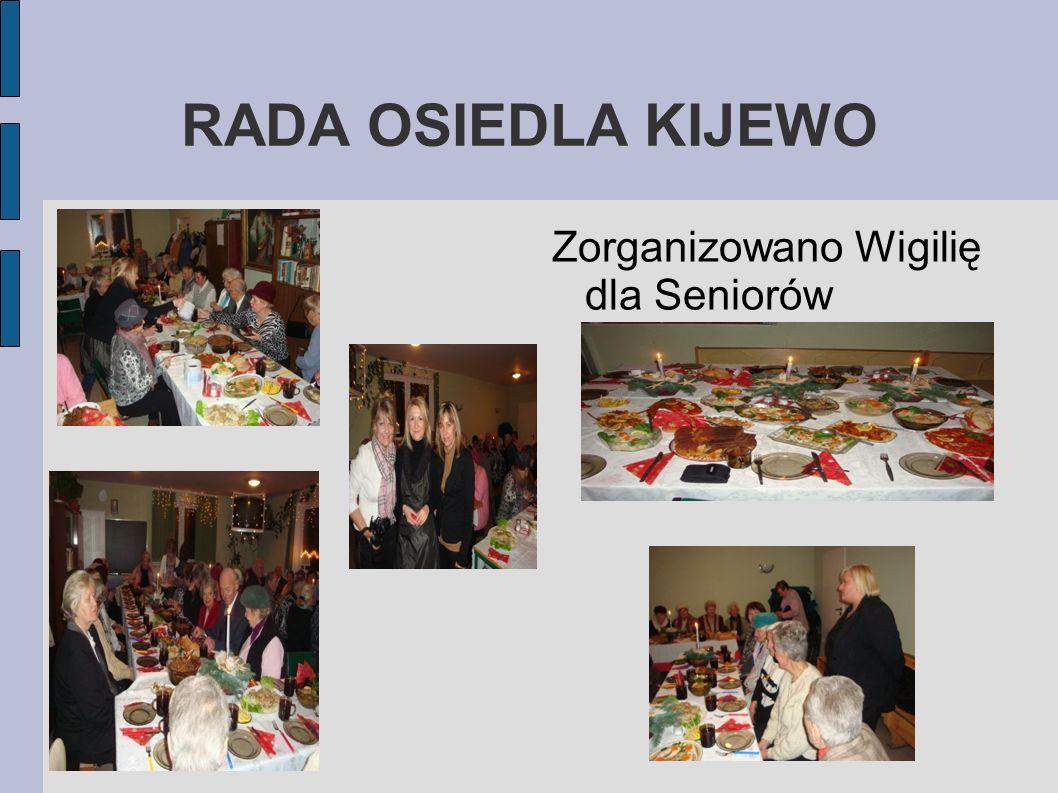 RADA OSIEDLA KIJEWO Zorganizowano Wigilię dla Seniorów