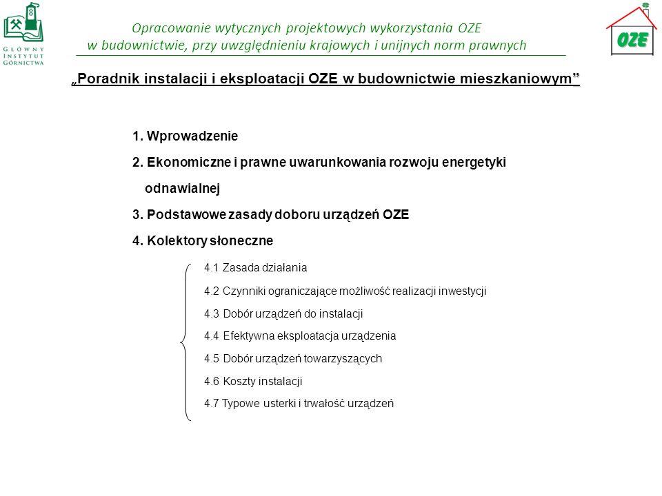 """""""Poradnik instalacji i eksploatacji OZE w budownictwie mieszkaniowym 1."""