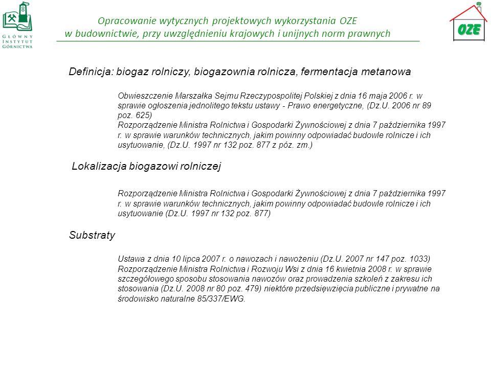 Definicja: biogaz rolniczy, biogazownia rolnicza, fermentacja metanowa