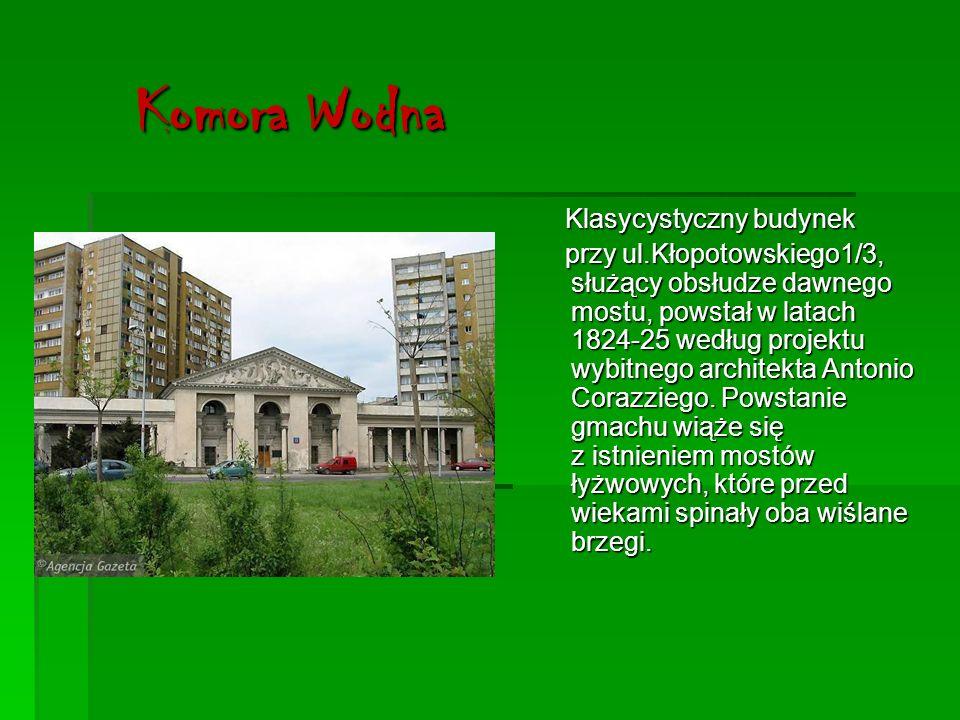 Komora Wodna Klasycystyczny budynek