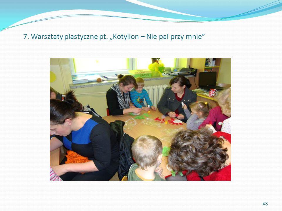 """7. Warsztaty plastyczne pt. """"Kotylion – Nie pal przy mnie"""