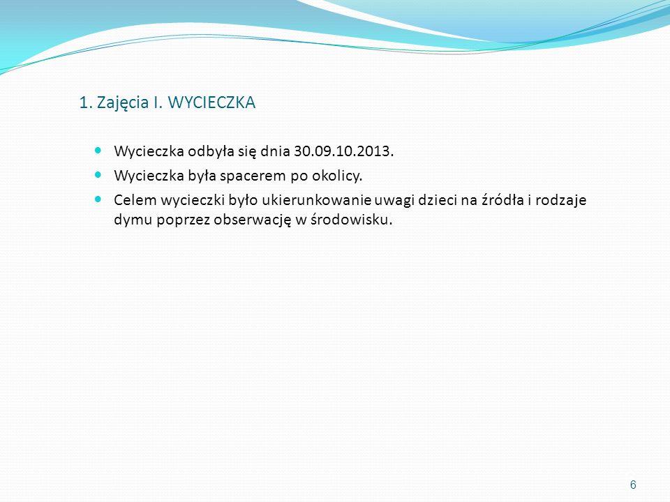 1. Zajęcia I. WYCIECZKA Wycieczka odbyła się dnia 30.09.10.2013.