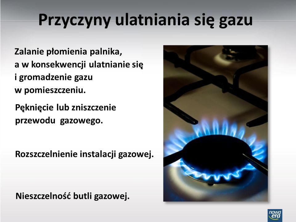 Przyczyny ulatniania się gazu