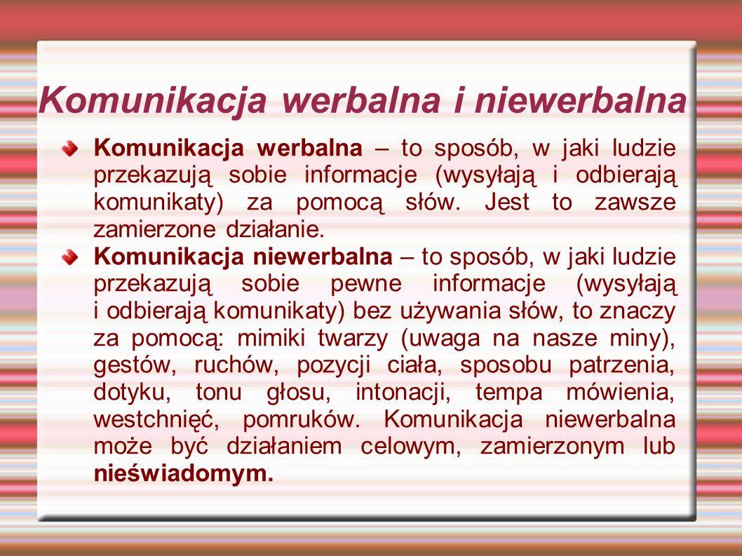 Komunikacja werbalna i niewerbalna