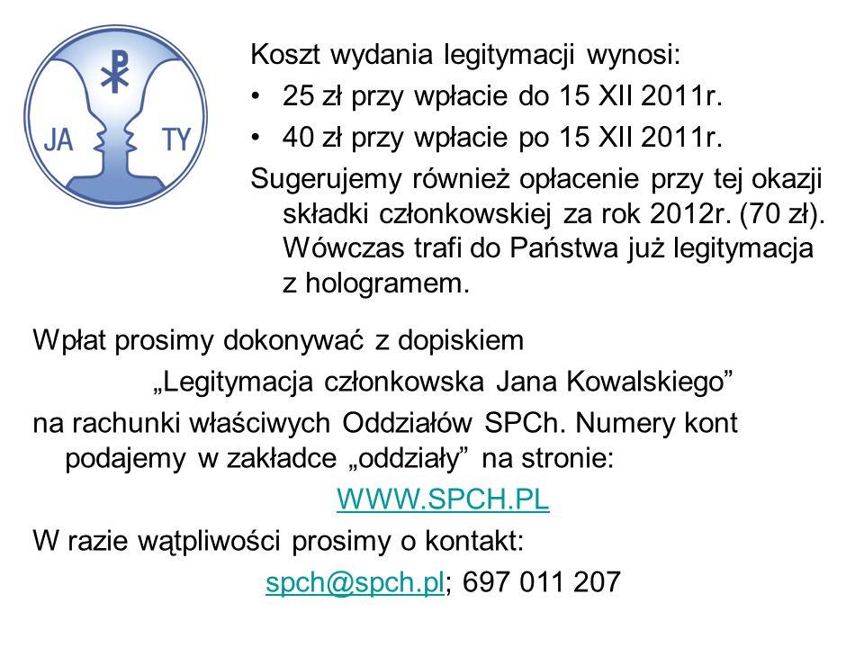 """""""Legitymacja członkowska Jana Kowalskiego"""