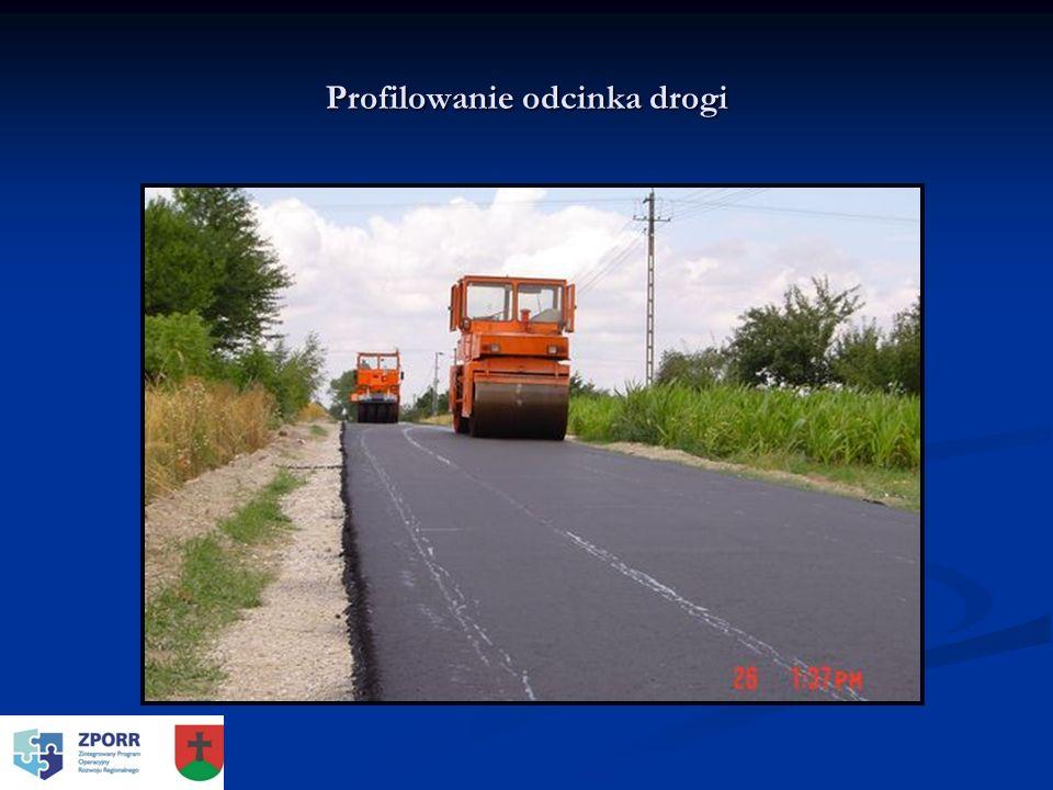 Profilowanie odcinka drogi