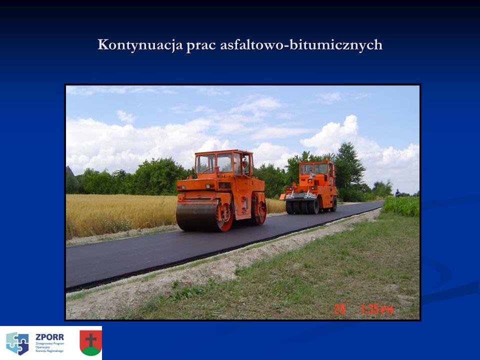 Kontynuacja prac asfaltowo-bitumicznych