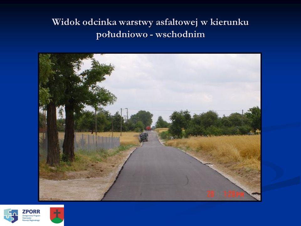 Widok odcinka warstwy asfaltowej w kierunku południowo - wschodnim