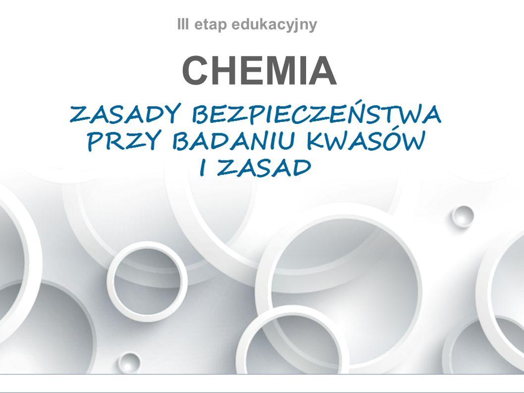 III etap edukacyjny CHEMIA