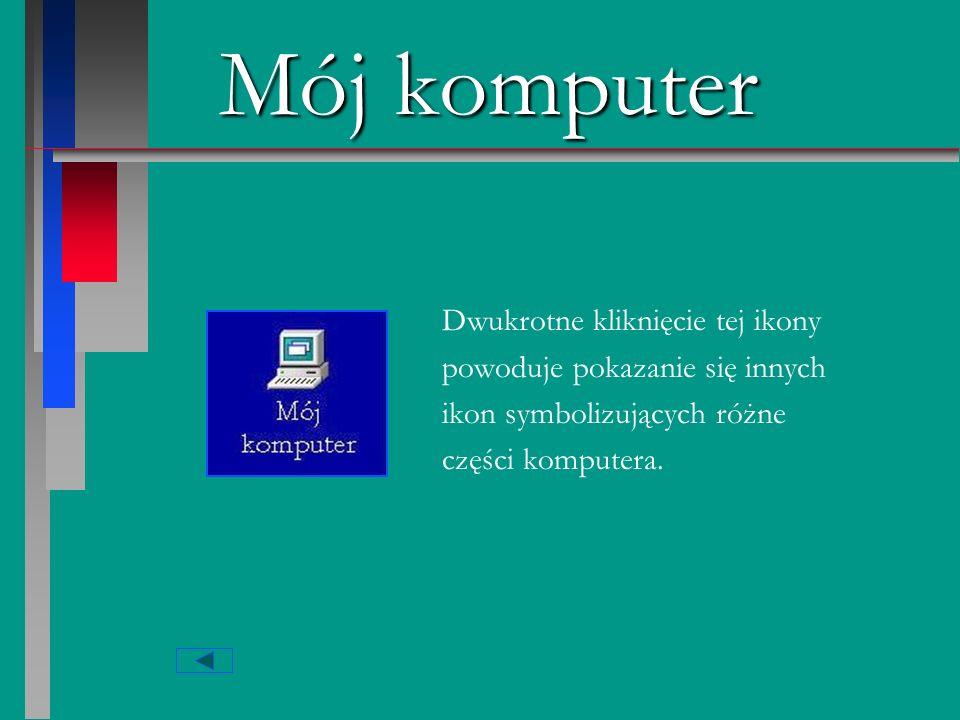 Mój komputer Dwukrotne kliknięcie tej ikony