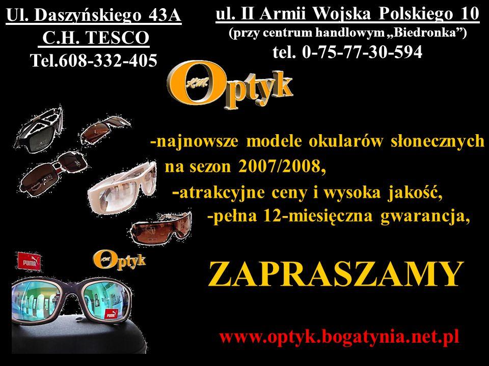 """ul. II Armii Wojska Polskiego 10 (przy centrum handlowym """"Biedronka )"""
