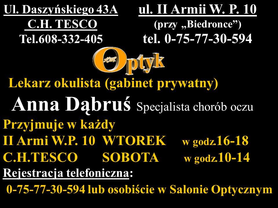 Anna Dąbruś Specjalista chorób oczu